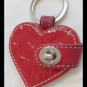 Coach heart shape key chain with picture slot